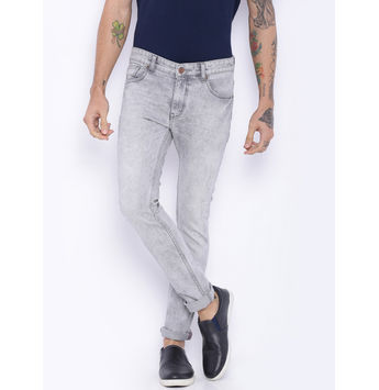 Breakbounce Heath Grey Slim Fit Jeans, 36,  grey