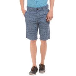 TIBER TWILIGHT BLUE Slim Fit Printed Shorts,  navy blue, 30