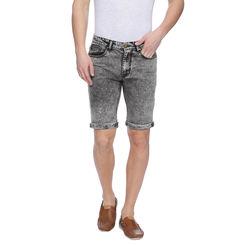 Wetson Black Washed Slim Fit Shorts, 32,  black