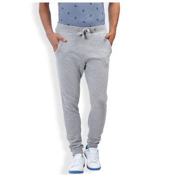 Breakbounce Barrett Regular Fit Solid Knitted Joggers,  grey melange, 38