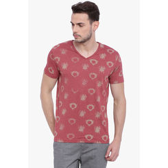 Breakbounce Foster Men's Casual T-Shirt, xl,  nuomb red