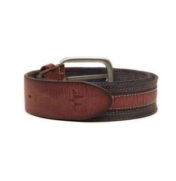 Breakbounce Slack Men's Casual Belt,  navy blue, 32/34