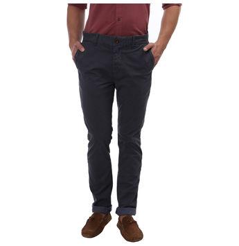 Breakbounce Haidom Slim Fit Printed Trousers,  grey, 28