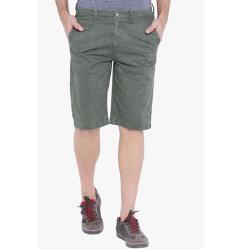 Breakbounce Drugo Slim Fit Men's Shorts, 34,  olive