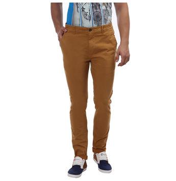 Breakbounce Matwara Skinny Fit Solid Trousers,  tuffy yellow, 32