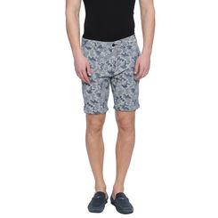 Ivor Mid Blue Washed Slim Fit Shorts, 32,  mid blue
