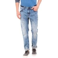 MONK LT BLUE Slim Fit Solid Jeans,  blue, 34