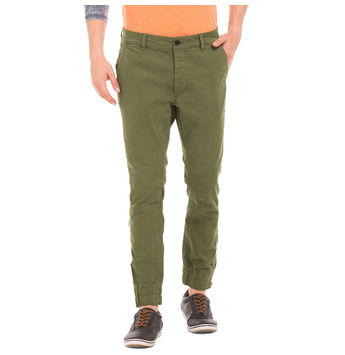 FAIRY GREEN Slim Fit Solid Jogger,  green, 36