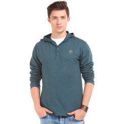 Aldrich C Midnight Blue Regular Fit Solid T-Shirt,  anthra, l