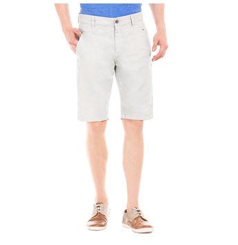 WENDELL WIND GREY Slim Fit Solid Shorts,  blue, 34