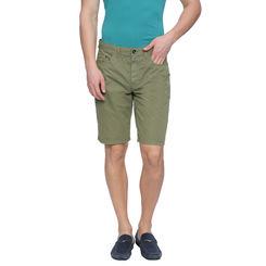 Bard Green Solid Slim Fit Shorts, 32,  green