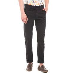BELMONT BLACK Slim Fit Solid Trouser,  navy, 32