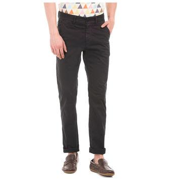 BELMONT BLACK Slim Fit Solid Trouser,  lightgrey, 36