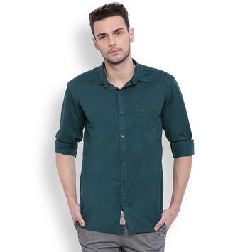 Breakbounce Conan MensSolidTwillShirt, s,  green