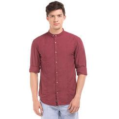 Dexto RED Slim Fit Solid Shirt,  navy, l