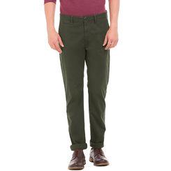 LOUIS OLIVE Slim Fit Printed Trouser,  brown, 32