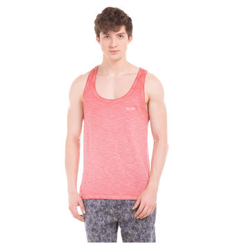 TRENT Cayenne Red Slim Fit Solid Vest,  red, xxl
