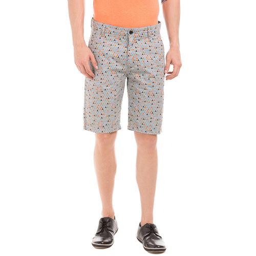 LATHAM SLEET GREY Slim Fit Printed Shorts,  grey, 30