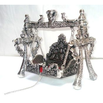 White Metal Jhula/Palna for GOD Idols, extra large