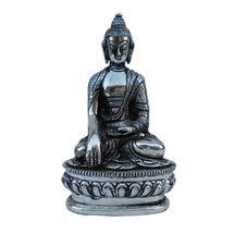 White Metal Budha - Sitting Statue, regular