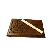Beautifully handcarved Wooden Cigarette Case - 2 Quantity