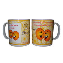 Friendship Message Milk and Coffee Mugs - Smily Baloons, regular