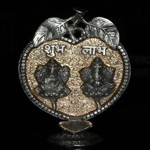 White Metal Patta Shubh Labh Deepak, regular