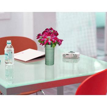 Green Colour Ceramic Flower Vase - Set of 2, regular