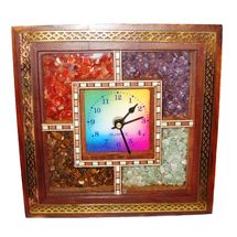 Gemstone Wooden Wall Clock, regular