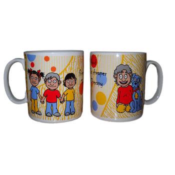 Friendship Message Milk and Coffee Mugs - Friends group, regular