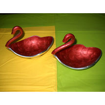 Duck shape Snacks Serving 2 Bowl Set - Red, regular