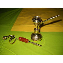 Decorative Mini Brass Hukkah and Cigrette Pipe combo, regular
