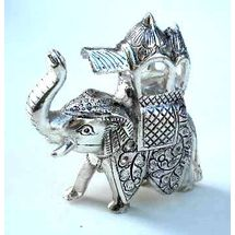 White Metal Rajasthani Elephant Statue, regular
