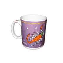 Zodiac Sign Ceramic Coffee Mug - Scorpio, regular