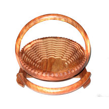 Classic Wooden Spring Basket with Round Handle, regular