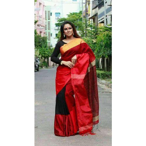 Mahapar Cotton Silk Saree 6.3 metre length with Blouse Piece 12