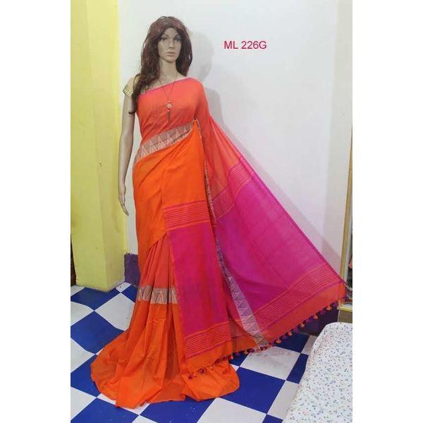 Madhyamoni Khadi Cotton Sarees Directly from Weavers 5