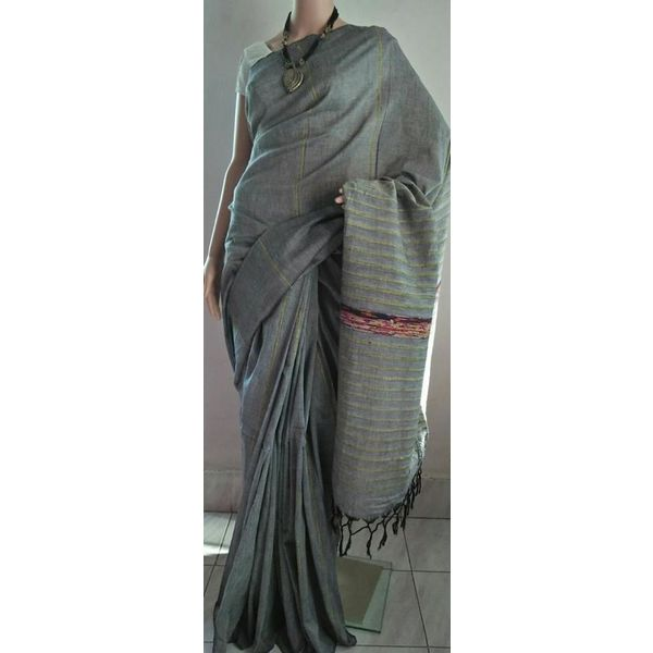 Pure Cotton Khes Saree 13