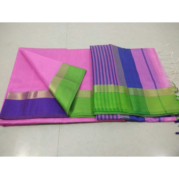 Pure Maheswari Cotton Silk Saree 17