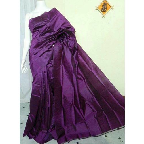 Bishnupuri Silk Saree in Solid/Plain Colours 1