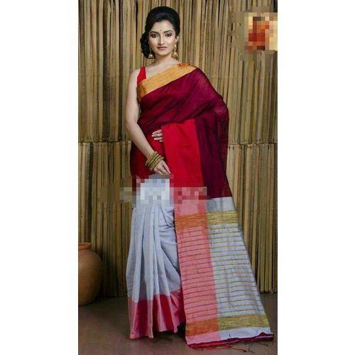 Mahapar Cotton Silk Saree 6.3 metre length with Blouse Piece 5