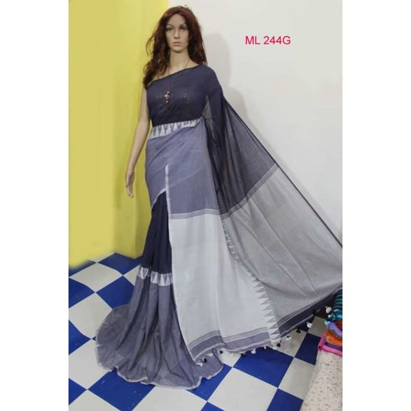 Madhyamoni Khadi Cotton Sarees Directly from Weavers 19