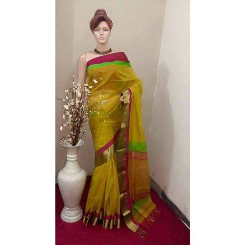 Pure Maheswari Cotton Silk Saree 4