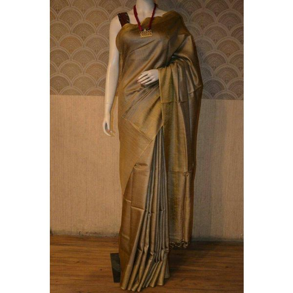 Bhagalpuri Tussar Moonga Silk Saree 6
