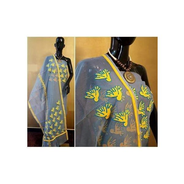 Supernet Kota Suit with Aari Work 35