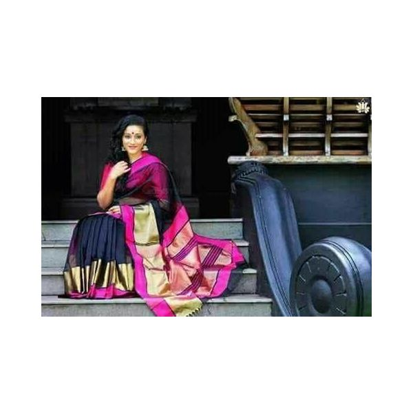 Pure Maheswari Cotton Silk Saree 13