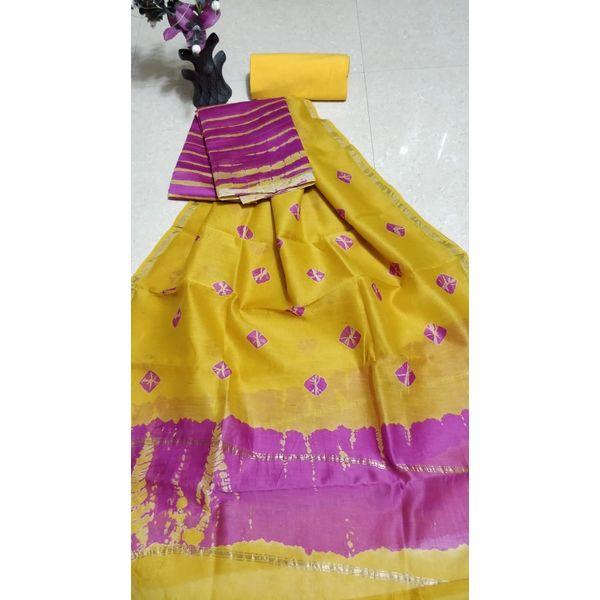 Chanderi Silk Salwar Suit-25