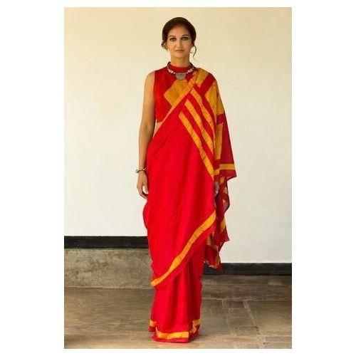 Cotton Mulmul Saree with Hand Batik/ Hand Block Print 6.3 metre length including Blouse Piece 2