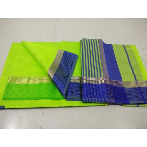 Pure Maheswari Cotton Silk Saree 18