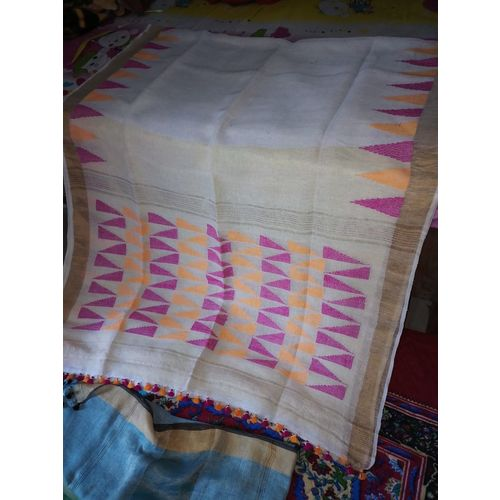 Pure Linen Jamdani Saree 1